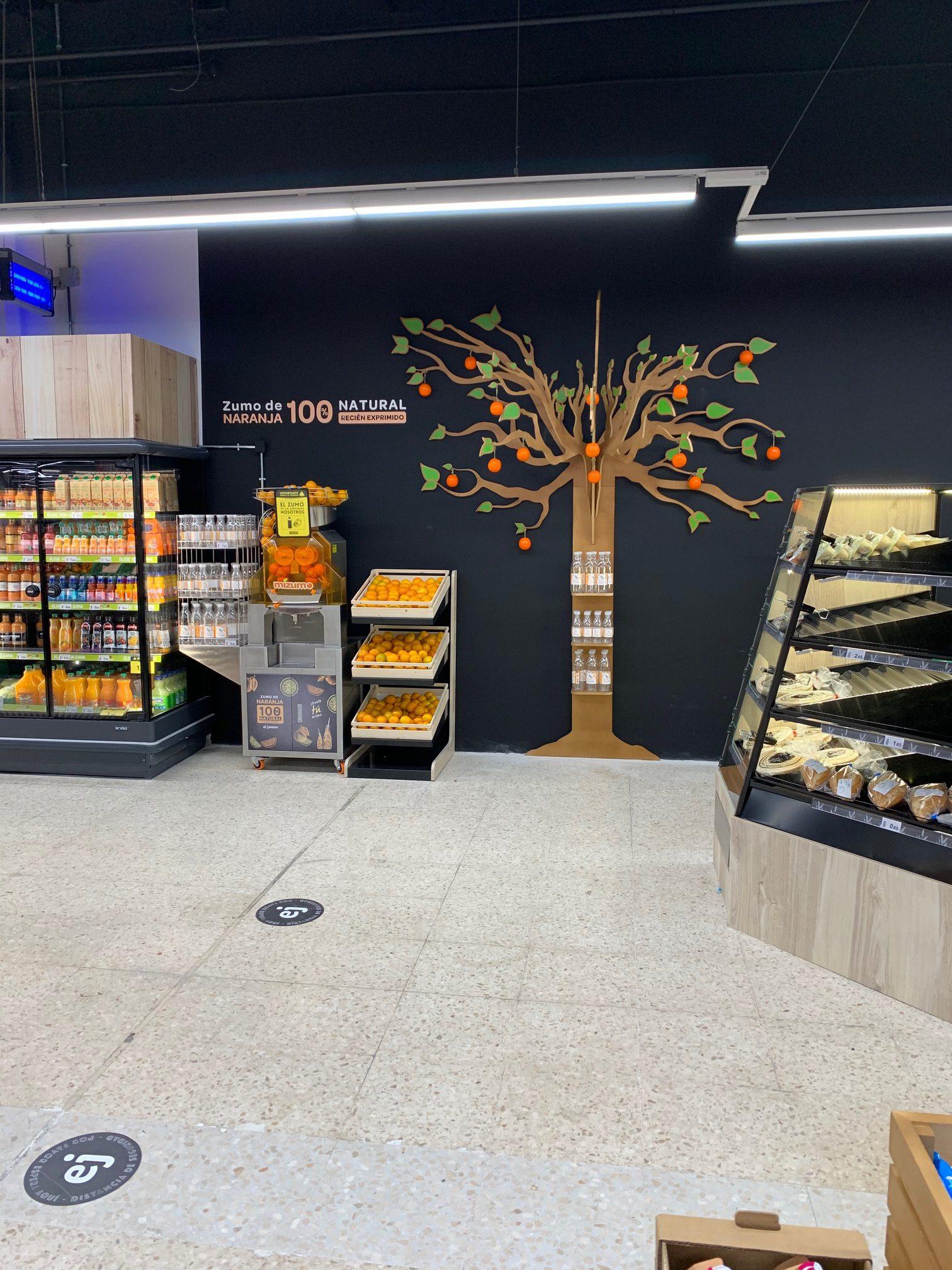 expositor de madera para supermercado